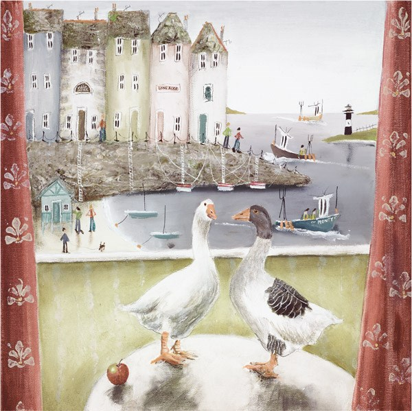 Home Birds (Paper) by Rebecca Lardner - Limited Edition on Paper sized 12x12 inches. Available from Whitewall Galleries